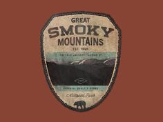Gret smoky mountains #logo #badge #logotype