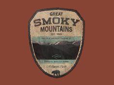 Gret smoky mountains #logo #badge #logotype