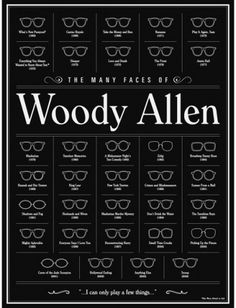 BLDG//WLF #glasses #woodyallen #poster #fashion #type