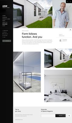 Relaunch USM.com on Behance #design #furniture #webdesign #layout #web
