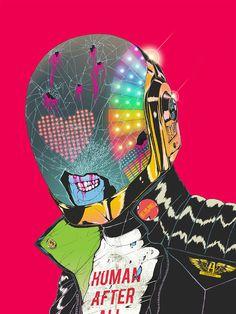 2014 : boneface #daft #illustration #boneface #punk
