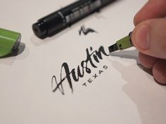 Austin by Eddie Lobanovskiy. #handcrafted #design #graphic #type #typography