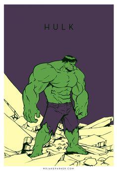 Spectacular Avengers Hulk #avengers #hulk #minimal #illustration