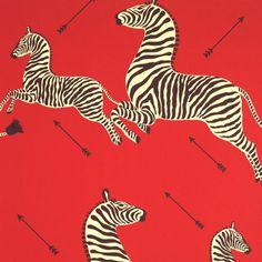 Zebra Wallpaper! #wallpaper #red #zebra