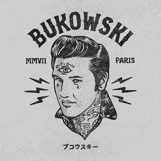 Bukowski, Logo, Elvis, Branding, Paris