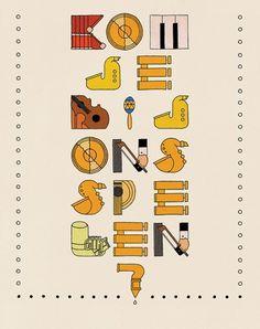 Stefan Glerum #concertgebouw #lettering #glerum #flyer #stefan #amsterdam #typography