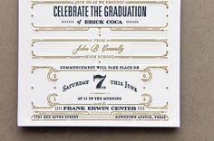 Juan Coca Graduation Announcement #announcement #graduation #invitation #foil stamp