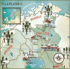 Lonely Planet magazine map illustrationsworld