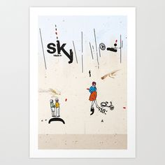 sky (canefantasma art) #letraset #illustration #art #sky