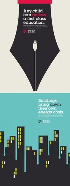 IBM Smarter Planet Posters | AisleOne #design #graphic #poster