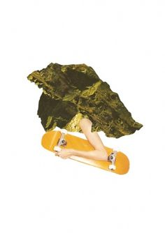 TIM KARLSSON #mountain #yellow #cliff #skate #collage