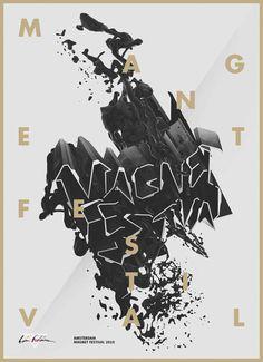 Magnet Festival on Behance #erdokozi #b&w #magnet #festiva #poster #erik
