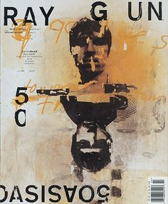 FFFFOUND! | Ray Gun Magazine Covers : Chris Ashworth #typography #cover #magazine #raygun #chris ashworth #oasis