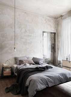 CJWHO ™ (Åhléns by Emma Persson Lagerberg Åhléns, a...) #design #bed #fashion #grey #interiors #bed room #cosy