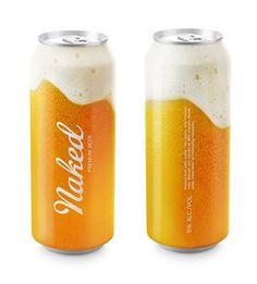 Naked Beer, Designed by Timur Salikhov, an art director from Saint Petersburg, Russia. #packaging #drink #can #beer
