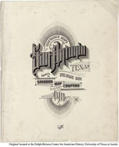 Sanborn Map Company title pages / Sanborn Insurance map - Texas - SAN ANTONIO - 1911 #typography #lettering 100% 4255 × 5202 pixels The Typography of