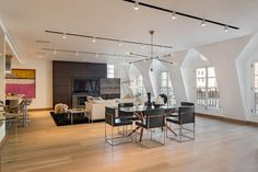 Captivating TriBeCa Penthouse with Three Terraces and Expansive Views #loft #modern #lifestyle #penthouse #apartment