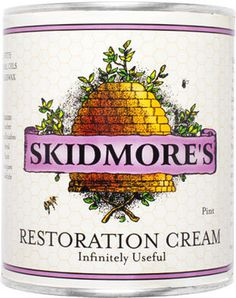 Skidmore's Beeswax Leather Conditioner #packaging #illustration #lettering