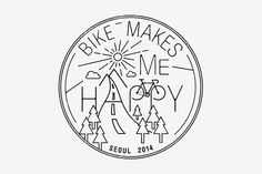 BIKE MAKES ME HAPPY on Behance #mark #branding #identity #logo #typography