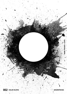 002 • Solar Eclipse | A Poster a Day Mark Posvak © 2018