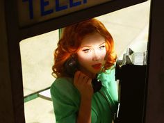 Alex Prager – Photography & Films #phone #prager #alex #redhead #booth