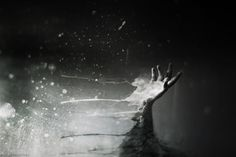 Like a daydream, or a fever by ~Fahad0850 on deviantART #white #black #paint #and #hand