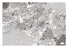 Tom Berry #ink #white #black #berry #tom #pen #art #drawing #detail