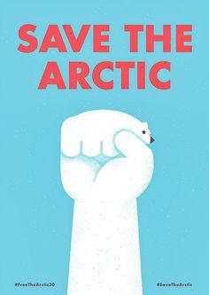 Save The Arctic by Mauro Gatti #save #artic #illustration