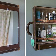Old Suitcase Turned Into A Medicine Cabinet #interior #design #decor #deco #decoration