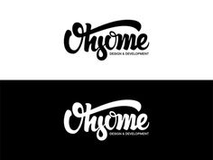 Ohsome lettering by Angelo Walczak https://dribbble.com/AngeloWalczak #lettering #calligraphy #type #typography #logo #design #vector #brush