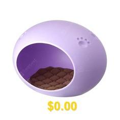 Bp228: #Candy #Oval #Egg #Nest #Shaped #Pet #House #Waterproof #Cat #Dog #House. #- #PURPLE