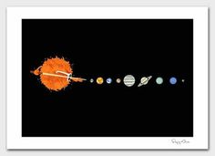FFFFOUND! #sun #solar #quirky #earth #illustration #system #funny
