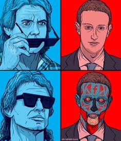 Hal Hefner Mark Zuckerberg They Live