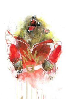 Stupid Krap — Michael Cain #cain #krap #stupidkrap #artwork #illustration #stupid #painting #art #cartoon #michael
