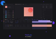 This After Effects redesign concept puts the focus on simplify the whole ui surface to give an attractive getting in, especially for beginners. In addition, the process becomes easier for advanced and experienced users. ADOBE REDESIGN CONCEPT, AFTER EFFECTS, UX DESIGN, UI DESIGN, DARK, DARK THEME, UX, UI, ANIMATION, MOTION, FOLDER, GRAPH, ALIGNMENT, SOFTWARE, APP,