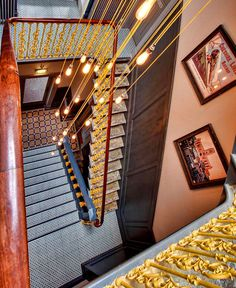 Contemporary Restaurant and Pub Decor by DV8 Designs - stairs, staircase, architecture, interior design, home #design, #stairs