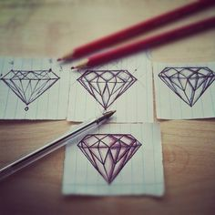 Practice Makes Perfect. Practicing to get the perfect diamond for Project Diamond. #drawings #project #diamond #practice