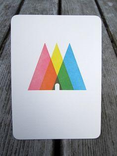Triangle Print - FORTRESS LETTERPRESS + DESIGN #letterpress