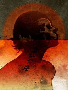 Orange Composites by matmacquarrie.ca #skull