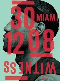 Michael Spoljaric #poster #nike #basketball #typography