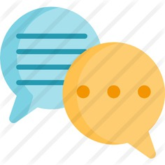 See more icon inspiration related to talk, negotiating, conversation, communications, chat, speech bubble, bubble speech, message and interface on Flaticon.