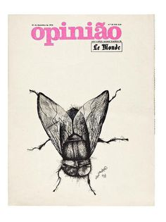 Capa do jornal 'Opinixe3o' desenhada por Elifas Andreato em 1973, que estxe1 no livro 'Linha do Tempo do Design Grxe1fico no #brazil #design #graphic #vintage