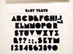 Container List: A brief tour of Milton Glaser's typography #typography #typeface #vintage #babyteeth #glaser #milton