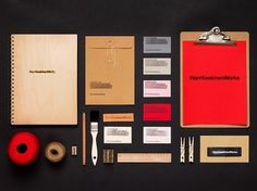 Harri Koskinen Works on Branding Served #handcrafted #stationary #wood #identity #helvetica