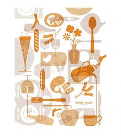 Break Bread Hospitality : Nathan Hinz #illustration #branding