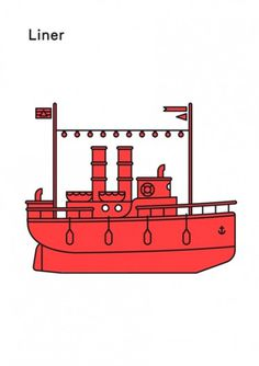 Print-Process / Product / Liner #illustration #boat #poster