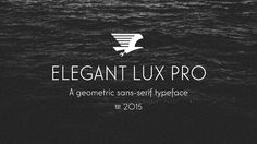 #elegantluxpro #sansserif #geometric #typeface #font #typography inspired by hans möhring (1928)