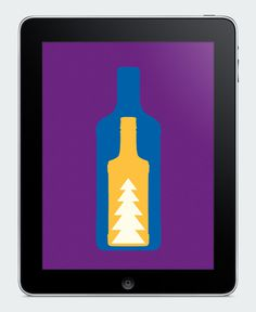 New year greeting card for Pernod Ricard #year #bottle #color #snow #website #app #holiday #promo #new