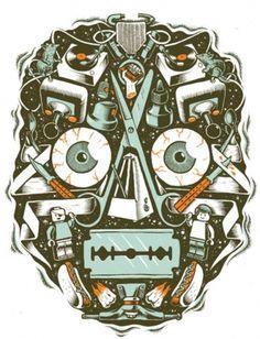 Designersgotoheaven.com - T Shirt design for... - Designers Go To Heaven #lego #vinyl #awesome #head #rats #joystick