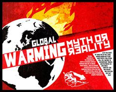 Russian Constructivism Poster #poster #red #fire #russian #constructivism #globe #global #warming